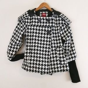 Therapy by Lane Crawford Houndstooth hooded coat